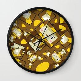 Cute Cartoon Blockimals Giraffe Pattern Wall Clock