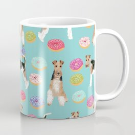 Wire Fox Terrier donuts dog pattern dog lover gifts for dog person dog breeds pet friendly Coffee Mug
