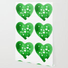 Green Hearts Wallpaper