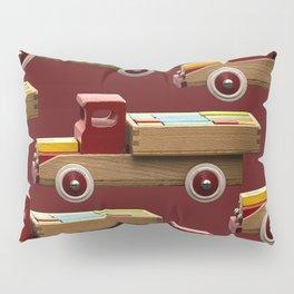 Vintage wooden toy truck #decor #society6 #buyart Pillow Sham