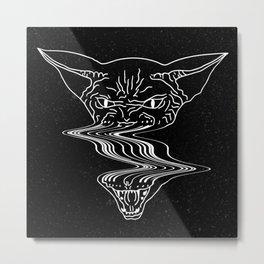 Glitch Sphynx Cat Metal Print