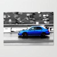 subaru Canvas Prints featuring Subaru Racer by VHS Photography