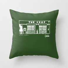 The Shop Throw Pillow