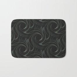 Black Swirl Bath Mat