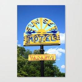 Route 66 - Sunset Motel 2012 Canvas Print