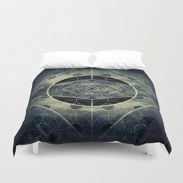 Sacred Geometry for your daily life -  SATURN EYE Duvet Cover