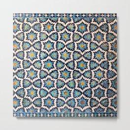 Oriental Tile Metal Print