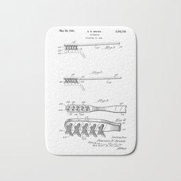 patent art Brown Toothbrush 1939 Bath Mat
