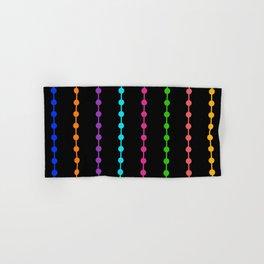 Geometric Droplets Pattern - Rainbow Colors Hand & Bath Towel