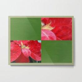 Mottled Red Poinsettia 2 Blank Q5F0 Metal Print