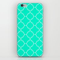 moroccan iPhone & iPod Skins featuring Moroccan Aqua by Jenna Mhairi