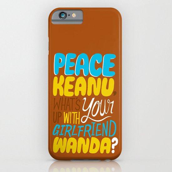 Peace Keanu iPhone & iPod Case