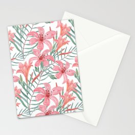 Pink lilies. Stationery Cards