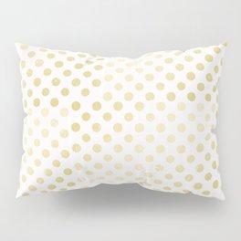 Vintage rustic faux gold white elegant polka dots pattern Pillow Sham