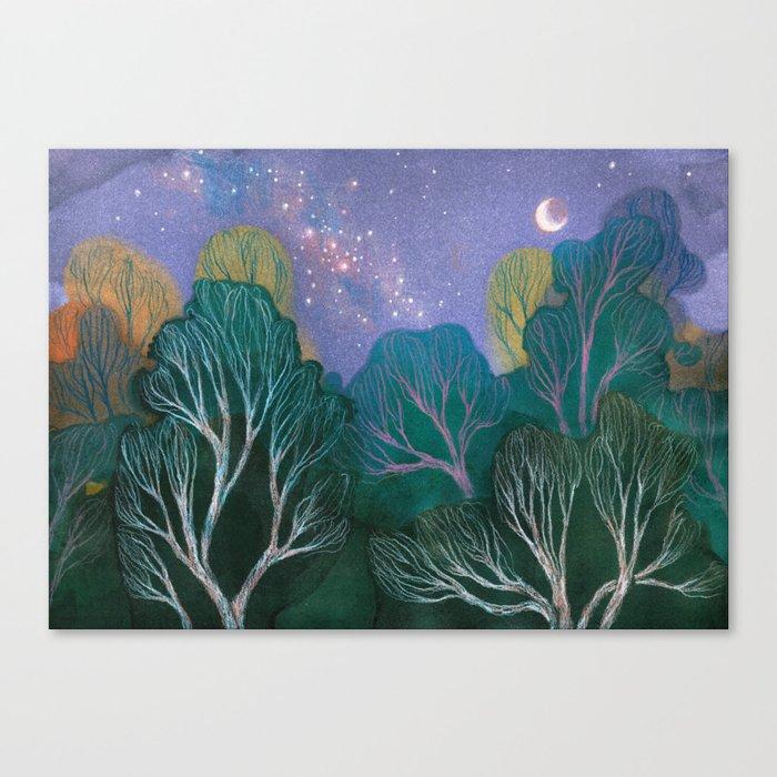 Starlit Woods Leinwanddruck