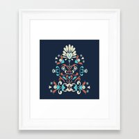 folk Framed Art Prints featuring Folk by Carolina Abarca