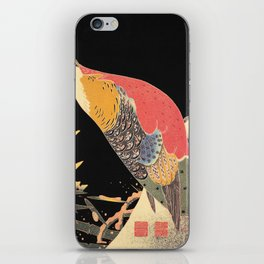 Golden Pheasant in the Snow Itô Jakuchû oriental bird art  iPhone Skin