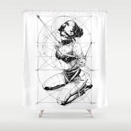 Restrained In Geometry. ©Yury Fadeev Shower Curtain