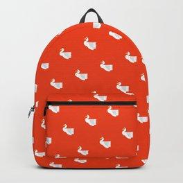 Geometric swan Backpack
