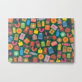 Fun Gift Box pattern Metal Print