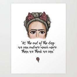 Frida Kahlo Quote Art Print