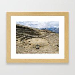 The Incan agricultural terraces at Moray, Maras, Peru Framed Art Print