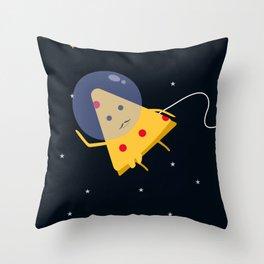 Space pizza man Throw Pillow