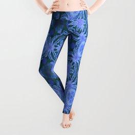 Green and blue flowery pattern Leggings
