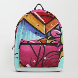 the crystal blossom gold heart Backpack