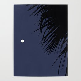 Palm Tree and the Moon Poster