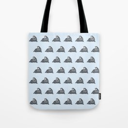 Frank Wallace in Blue Pattern Tote Bag