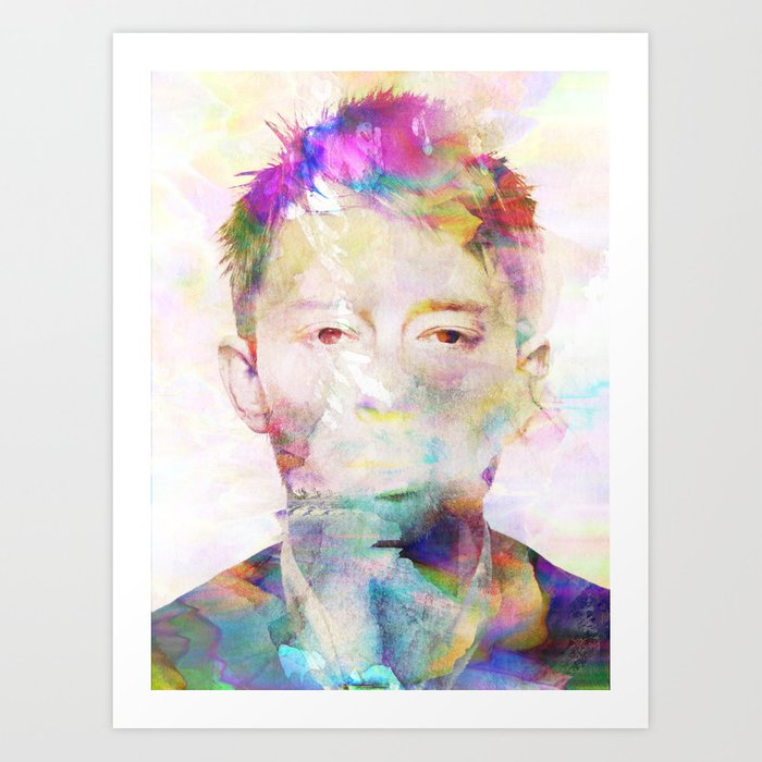 Discover the motif THOM YORKE by Andreas Lie as a print at TOPPOSTER