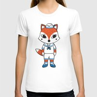 preppy T-shirts featuring The Preppy Fox by moochi