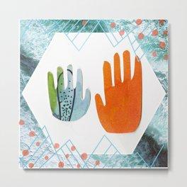 Hands. Metal Print