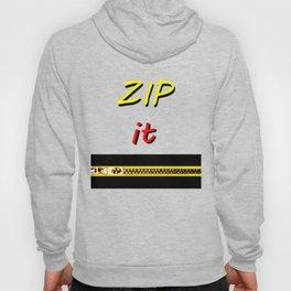 Zip it Black Yellow Red jGibney The MUSEUM Gifts Hoody