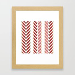 the path laid out in red pencil Framed Art Print