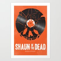 shaun of the dead Art Prints featuring Shaun of the dead by aWharton