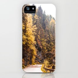 Autumn Mountain Road iPhone Case