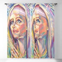 Saint Claire of Assisi, potrait Blackout Curtain