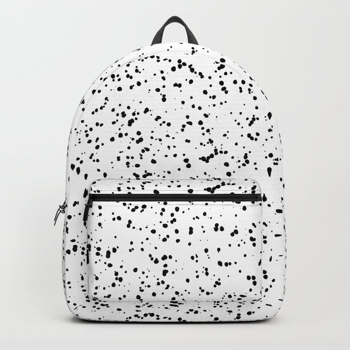 Speckles I: Double Black on White Backpack