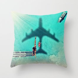 The Big Dive by GEN Z Throw Pillow