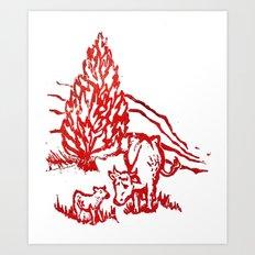 Big moo, wee moo Art Print