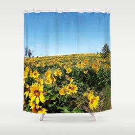 wildflower season Shower Curtain