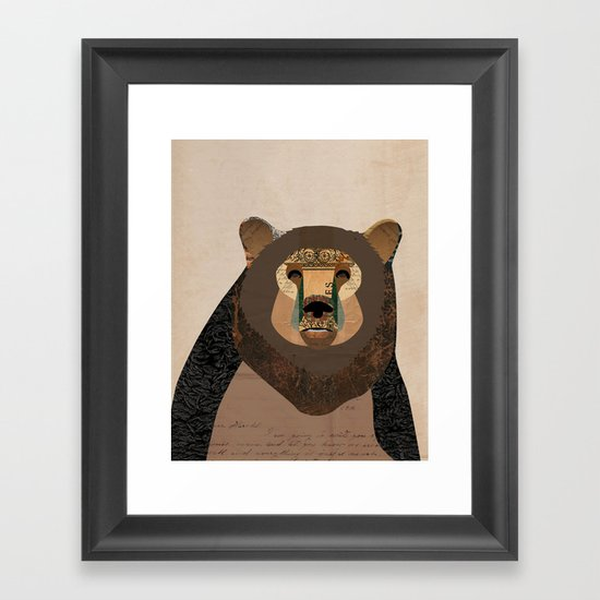 Bear Collage Framed Art Print