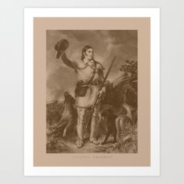 Colonel Davy Crockett Art Print