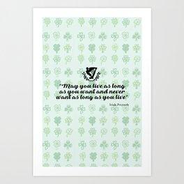 irish proverb Art Print