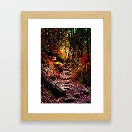 Warm trees Framed Art Print