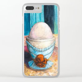 A boiled egg according to Edgar Degas Clear iPhone Case
