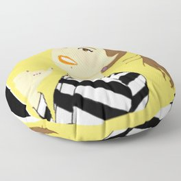 Knock Knock! Chaeyoung Yellow Floor Pillow