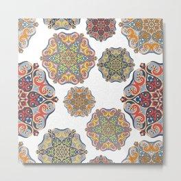 Romantic mandala design Metal Print